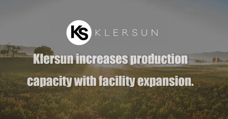 Klersun increases production capacity with facility expansion.