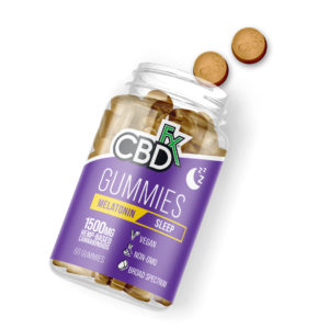 cbdfx blog melatonin gummies bottle